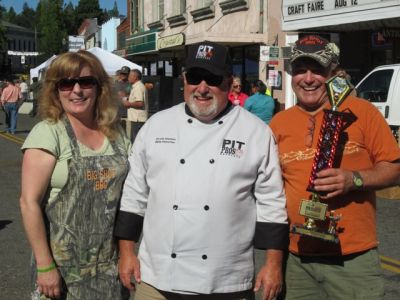 2nd Annual Wagon Train BBQ Cook-Off Grand Champions   Jack & Gina Simmons Of Big Shot BBQ