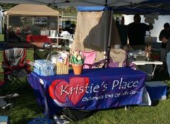 Kristie's booth at 2012 1st Annual Santa Anita Park Winner's Circle BBQ (photo courtesy of Ben Lobenstein)